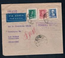 1937 VITORIA A LAS PALMAS - 1931-50 Lettres