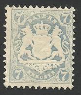 Bavaria, 7 Kr. 1870, Sc # 26, Mi # 25Y, MH. - Bavaria