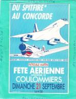 COULOMMIERS FETE AERIENNE 21 SEPTEMBRE 1986 DU SPIFIRE AU CONCORDE - 1946-....: Moderne