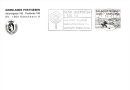 Greenland: Christmas - Mail Christmas Post Early Posted Julianehåb 14.11.1983 (G51-76) - Groenlandia