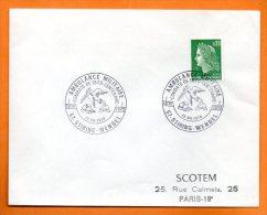 57 STIRING WENDEL    COMBATS DE 1870  AMBULANCE MILITAIRE  1970  Lettre Entière  N °   I 66 - Commemorative Postmarks