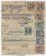 Chile Paketkarte 1928 Perfin