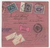 �gypten Michel No. 133 - 135 auf Paketkarte 1931