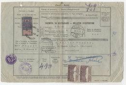 Bulgarien Paketkarte 1928