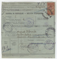 Bulgarien Paketkarte 1929