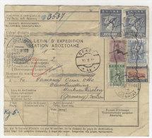 Griechenland Paketkarte 1930