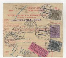 Jugoslawien Paketkarte 1930 Perfin