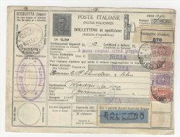 Italien Paketkarte 1929