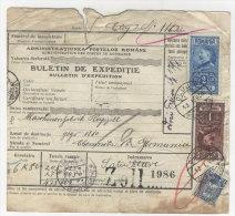 Rum�nien Paketkarte 1929