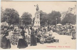 23862g  LUXEMBOURG - Place Du Marché - 1907 - Luxembourg - Ville