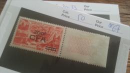 LOT 236799 TIMBRE DE COLONIE REUNION NEUF** N�50 VALEUR 67 EUROS