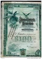 TITRE LT1-----MEXIQUE. Banco Central Mexicano 21.000 Dollars Cachet Augmentation De Capital à 30.000 Dollars - Banque & Assurance