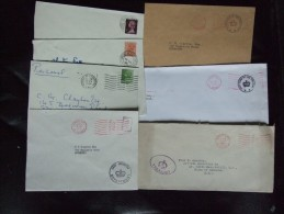 GB SELECTION OF 7 COVERS WITH PARLIAMENTARY MARKS SEE BELOW FOR LIST OVER 2 SCANS - Storia Postale