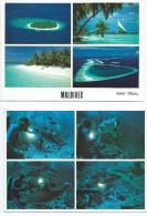 Asie MALDIVES  Male Atoll  Lot De 2 Cartes  - Scan R/V Des 2 Cartes - Photo Michael Friedel * PRIX FIXE - Maldives