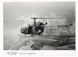 AVION  -  AVIATION  -  ALOUETTE III  -   18 X 24 Cm. - Aviación