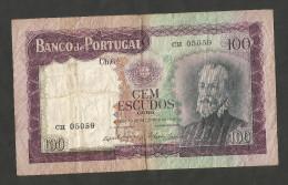 PORTUGAL - BANCO De PORTUGAL - 100 ESCUDOS (1961) - PEDRO NUNES - Portogallo