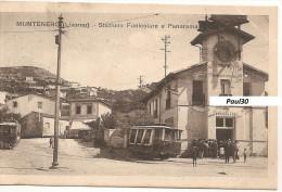 Llivorno -  Stazione Funicolare - Treni - Tranvie - Spedita Nel 1921 - Livorno