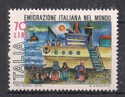 ITALIA 1975 EMIGRAZIONE ITALIANA SASS. 1305 MNH XF - 6. 1946-.. República