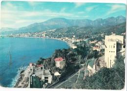 Italy, GRIMALDI, Riviera Dei Fiori, Mentone Seen From Italo-French Frontier, Unused Postcard [14564] - Imperia