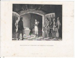 Napoléon Au Tombeau De Fréderic Le Grand - Lithographies
