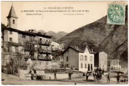 Le Moulinet - La Place Et Le Nouveau Boulevard ( Attelage, édit. Truchi ) - Autres Communes