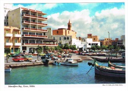 RB 1009 - John Hinde Postcard -  Cars At Marsalforn Bay - Gozo Malta - Malta