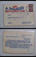 Cartolina/postcard/intero Postale A. PAVANELLO Stabilimento Tipografico - Conselve (Padova) 1946 - Advertising