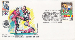 USA'94 SOCCER WORLD CUP, GERMANY- SOUTH KOREA GAME, SPECIAL COVER, 1994, ROMANIA - World Cup
