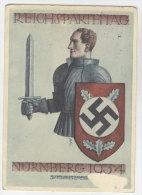 Festpostkarte Reichsparteitag NSDAP 1934 / vorn besch�digt, siehe Scan