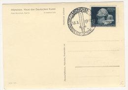 DR Michel No. 812 auf Karte - Helden Gedenktag 1942 M�nchen Haus der Deutschen Kunst