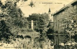 MONTZERON - TOUTRY (ENVIRONS DE SEMUR) - CÔTE D´OR  (21)  -  CPA COULEUR - CLICHE PEU COURANT. - France