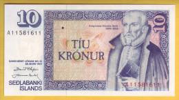 ISLANDE - Billet De 10 Kronur. 1981. Pick: 48. NEUF - Islande