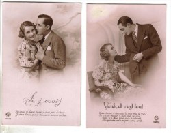 LOT 6 CPSM FANTAISIE COUPLE - Amour Confidence Bonheur - Fantaisies