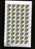 Belgie Buzin birds vogels 0.70� in volledig vel Plaatnummer 1 Numero de Planche Bande datee RARE 4/9/2002  ONPAAR