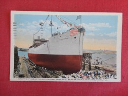 Launch of one of 9,600  Steel  ships Built at Oscar Daniels Ship Yards  Florida> Tampa   ---- --ref 1643
