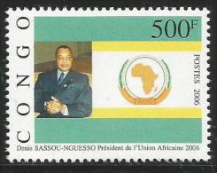 Congo 2006 President Sassou-Nguesso African Union Mint - Kongo - Brazzaville
