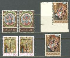 1967 CYPRUS ST. ANDREW CLOISTER - ART EXPOSITION - UNESCO 2x Sets MICHEL: 302, 303, 304 MNH ** - Nuovi