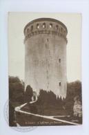 Old Real Photo Postcard France: Coucy - Le Chateau Le Donjon - Unposted - Otros Municipios