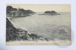 Old Postcard France:  St. Quay Portrieux - L´Ile De La Comtesse Et Le Sémaphore - Unposted - Saint-Quay-Portrieux