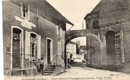 BREUVANNES ARCADE DEPARANT LA CHAMPAGNE ET LA LORRAINE BUREAU DE POSTE (OCTROI) - Unclassified