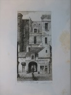 PARIS Rue SAINT-DENIS, Menuisier BETHUNE, Passage Trinité, TB Eau-forte XIXèmeLeroy 1827, 30X40 Cm Env ; Ref 168 - Prints & Engravings