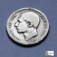 España - 1 Peseta - 1882 - [ 1] …-1931 : Reino