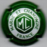 C1413 - MARNE ET CHAMPAGNE - 5a - Vert Et Blanc, Lettres épaisses - Champagne