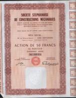 ACTION DE 50 FRANCS- SOCIETE STEPHANOISE DE CONSTRUCTION MECANIQUES - Textile
