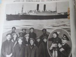 Apres Le Torpillage Du Bateau Le TUSCANIA     Capitaine Mac Lean Irlande  Américan Soldiers - Sin Clasificación
