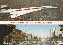 CPSM (31)  Souvenir De TOULOUSE Aviation CONCORDE Avion Fly - Toulouse