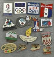 LOT DE 15 PIN´S JEUX OLYMPIQUE ALBERTVILLE 1992 - Olympic Games