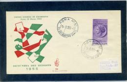 FDC VENETIA 1955 REDDITI - 6. 1946-.. Repubblica