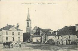 52 HORTES  La Mairie , L'église Et L'hôtel Besson   2 Scans - France