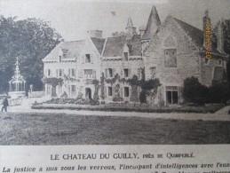 La Grande Guerre  14-18 Nouvelle Affaire De Trahison   Suzy Depsy   Jay  Guiller Chateau De  Guilly Quimperlé  Tremblez - Vieux Papiers
